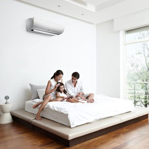 Family enjoying Cool air from Aircon