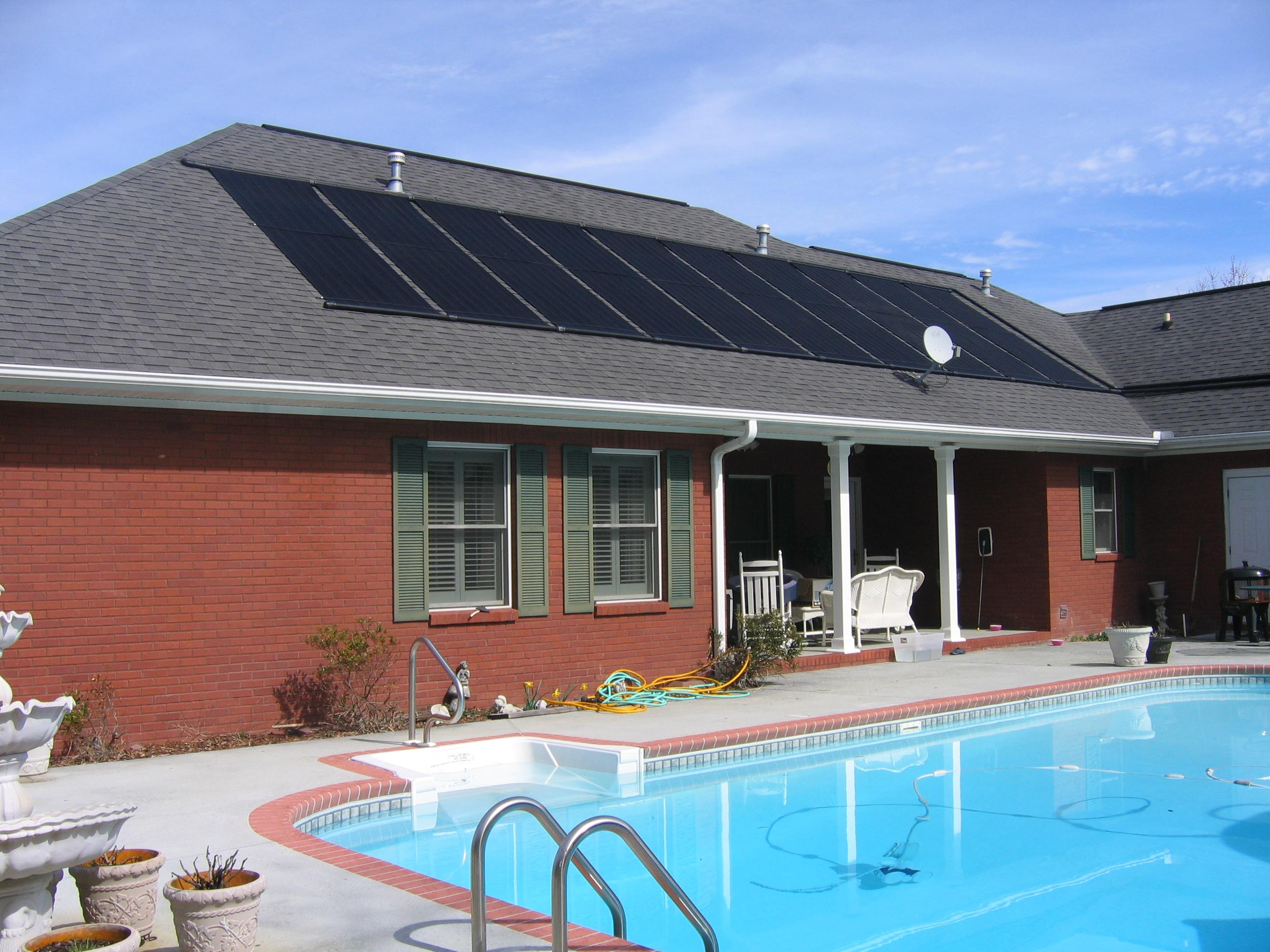 Solar Panel Swimming Pool Heating