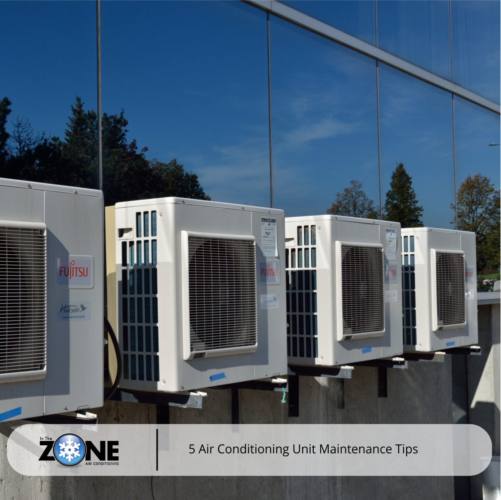 4 airconditioning split units from the exterior